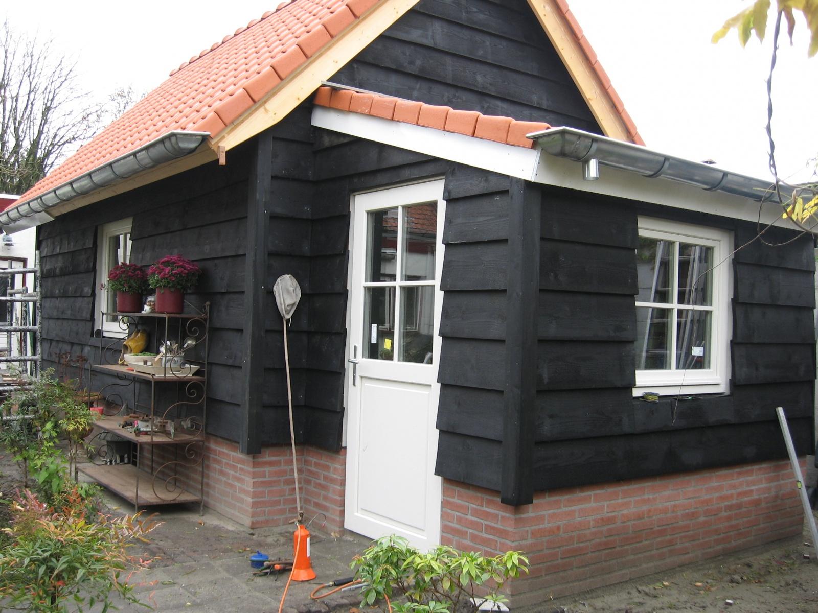 Prefab Schuur Steen : Home u e projecten u e berging tuinschuur nw dak en zijgevel sonke