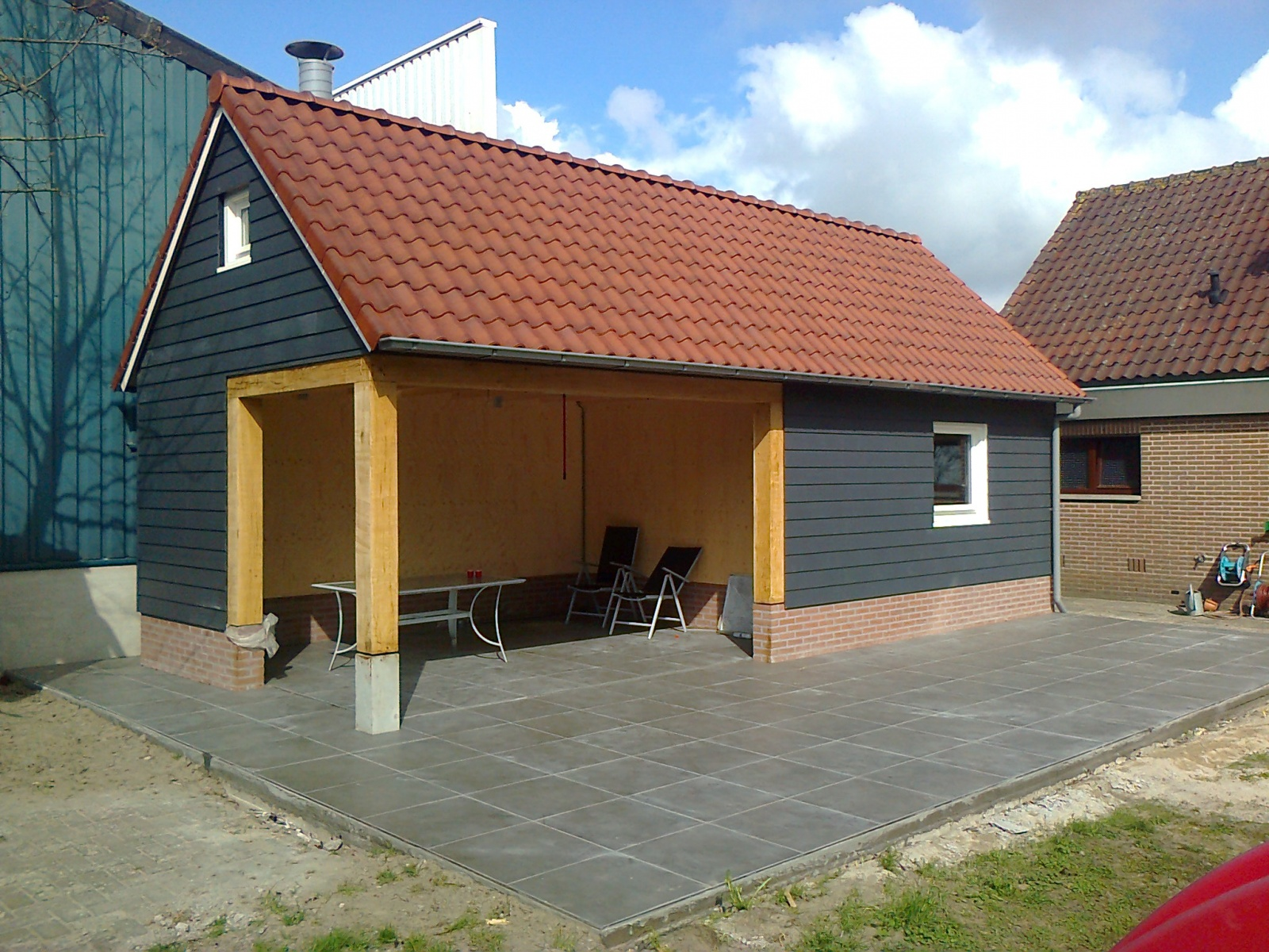 Home projecten tuinhuis met overdekt terras sonke bouwbedrijf for Overdekt terras